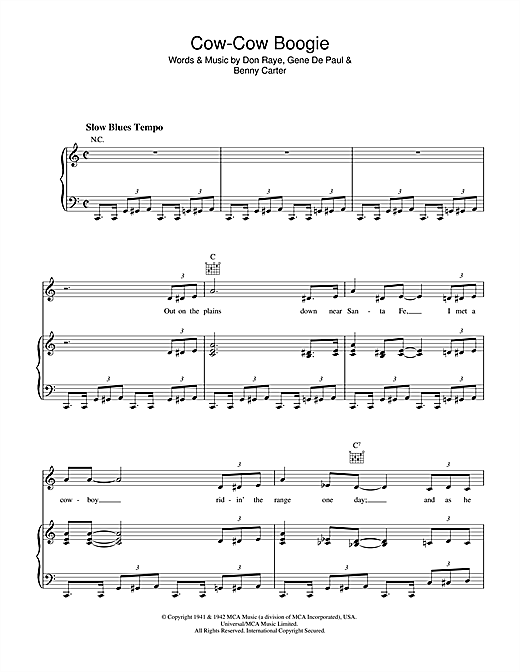 Cow-Cow Boogie Sheet Music