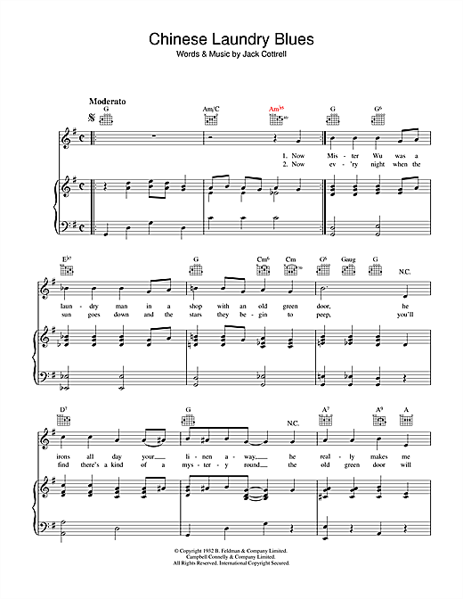 Chinese Laundry Blues Sheet Music