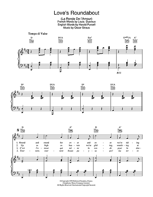 Love's Roundabout (La Ronde De L'Amour) Sheet Music