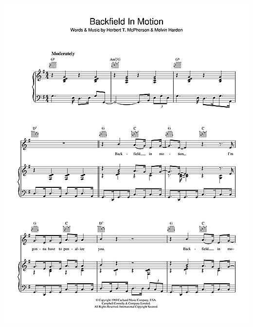 Backfield In Motion Sheet Music