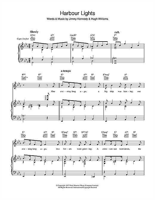 Harbour Lights Sheet Music