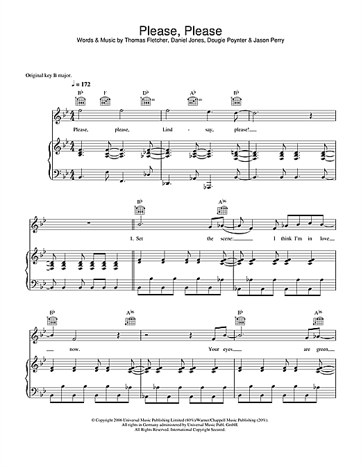 Please, Please Sheet Music