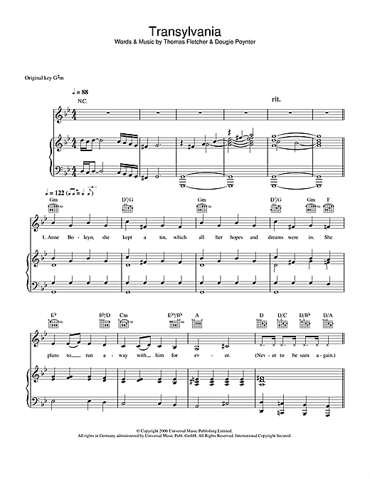 Transylvania Sheet Music