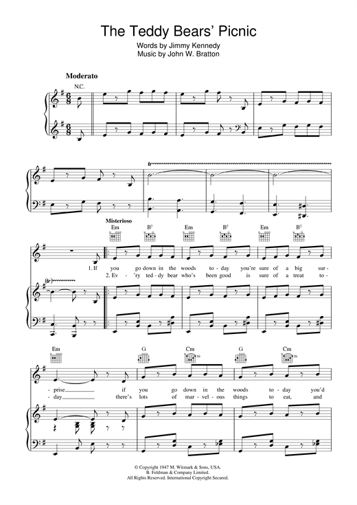 The Teddy Bears' Picnic Sheet Music