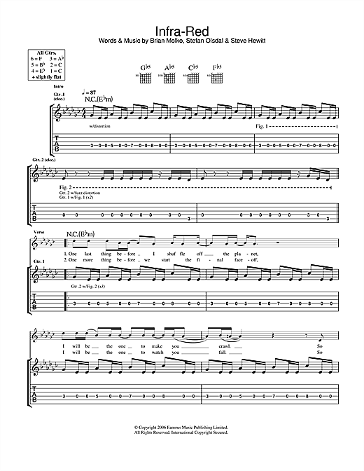 Infra-Red Sheet Music