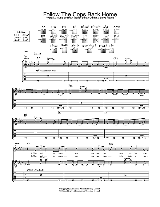 Follow The Cops Back Home Sheet Music