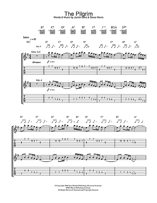 The Pilgrim Sheet Music