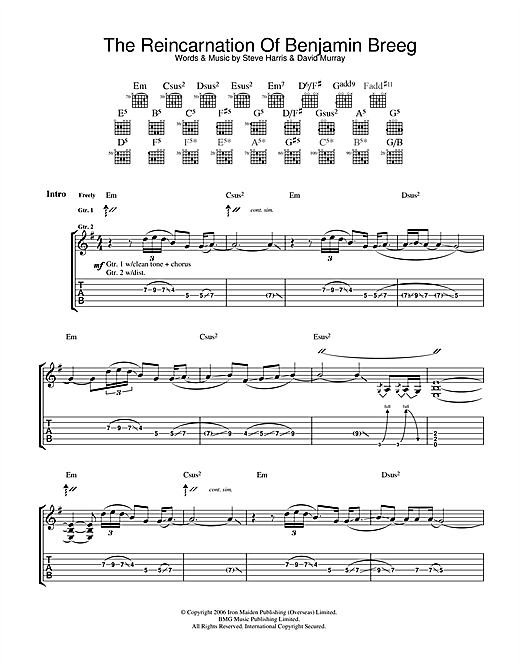 The Reincarnation Of Benjamin Breeg Sheet Music