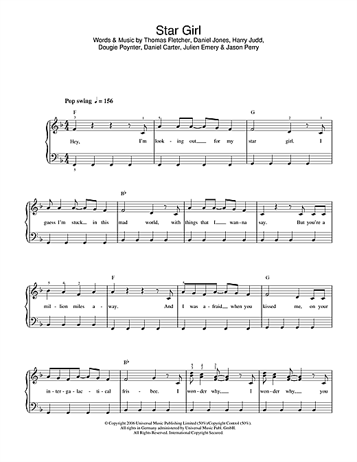 Star Girl Sheet Music