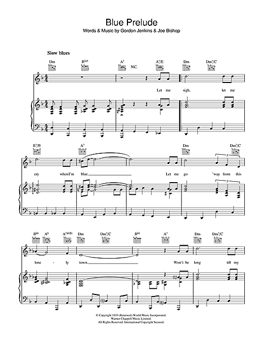 Blue Prelude Sheet Music