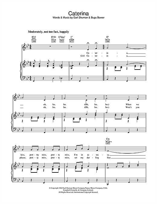 Caterina Sheet Music