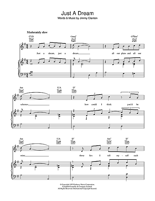 Just A Dream Sheet Music