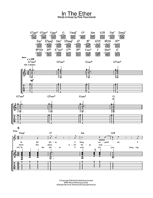 Tablature guitare In The Ether de The Who - Tablature Guitare