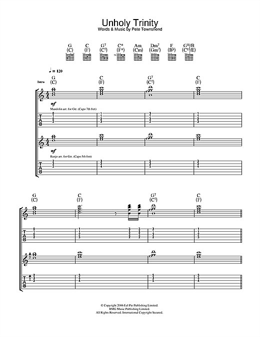 Unholy Trinity Sheet Music
