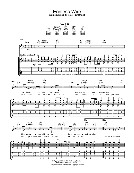 Endless Wire Sheet Music
