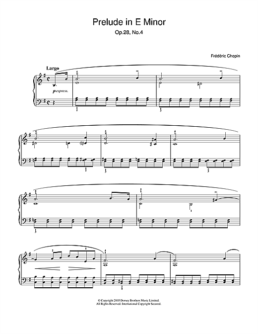partition piano chopin prelude 4