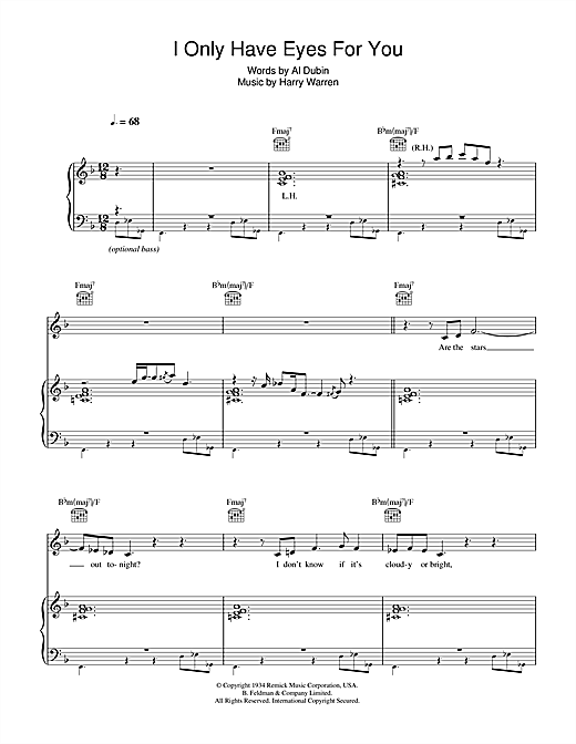 I Only Have Eyes For You Sheet Music By Jamie Cullum Piano Vocal