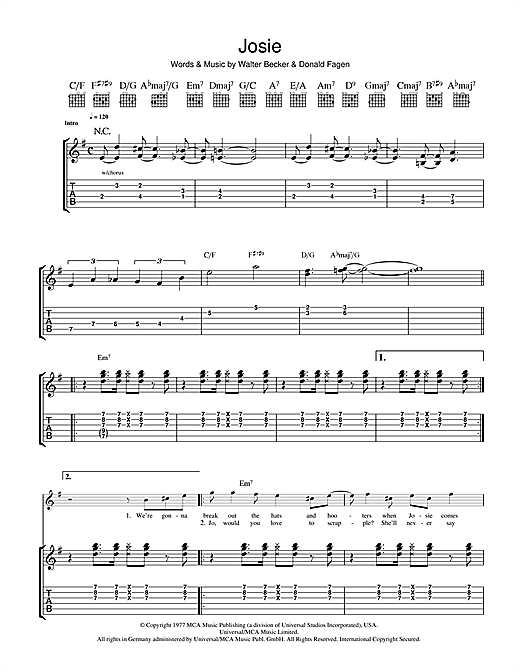 Josie Sheet Music