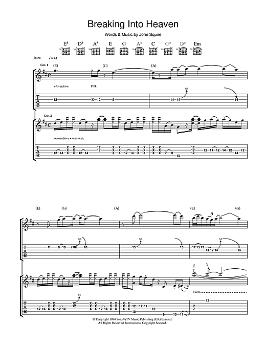 Breaking Into Heaven Sheet Music