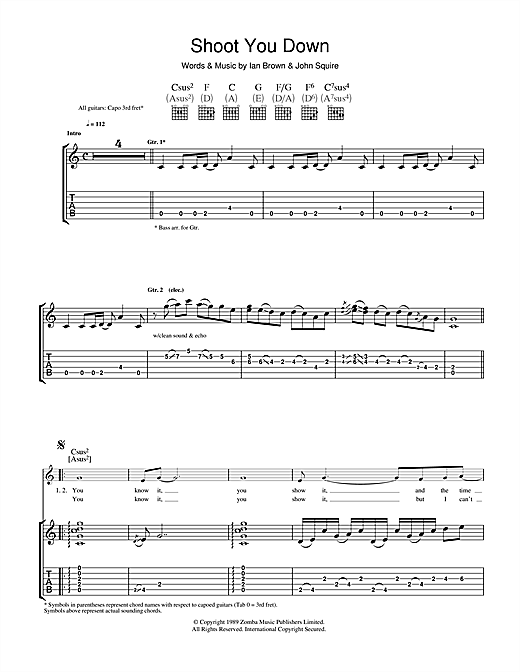 Shoot You Down Sheet Music
