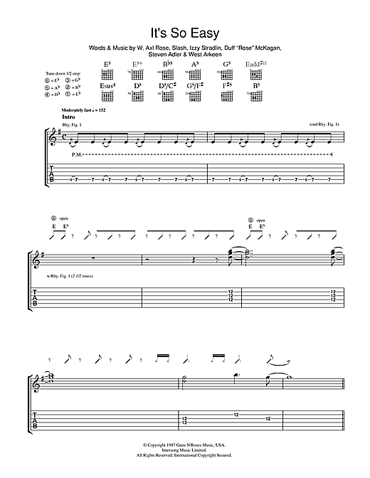 It's So Easy Sheet Music