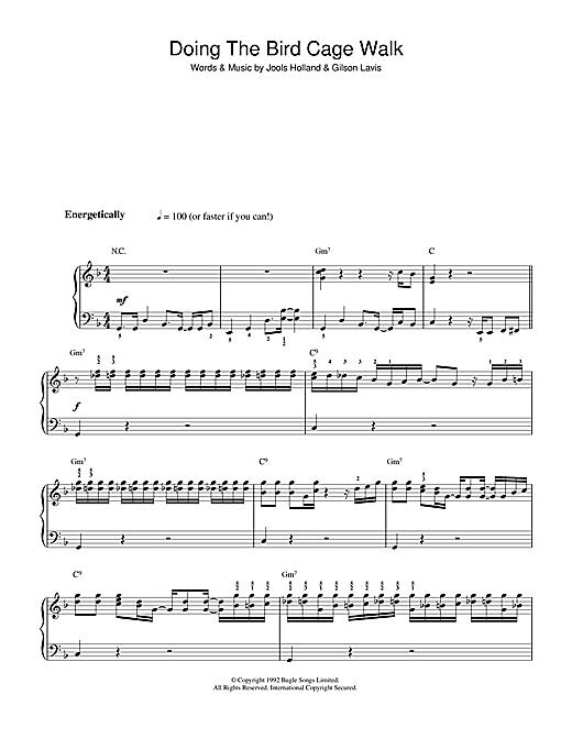 Doing The Bird Cage Walk (theme from Later ... With Jools Holland) Sheet Music
