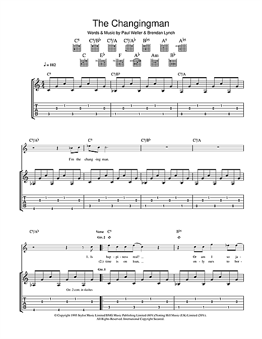 The Changingman Sheet Music