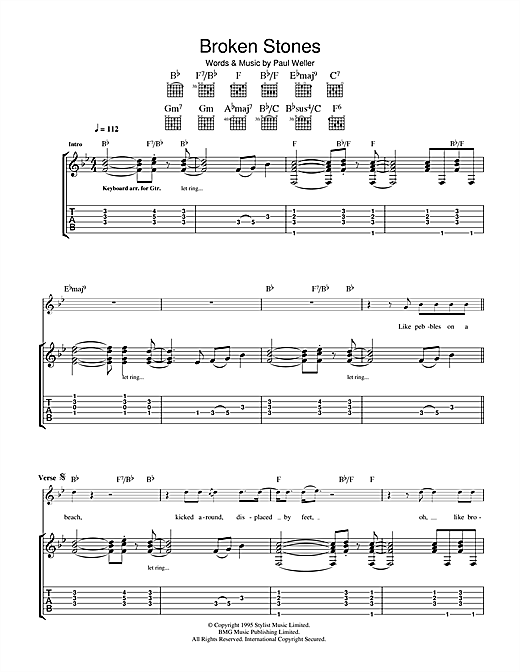 Broken Stones Sheet Music