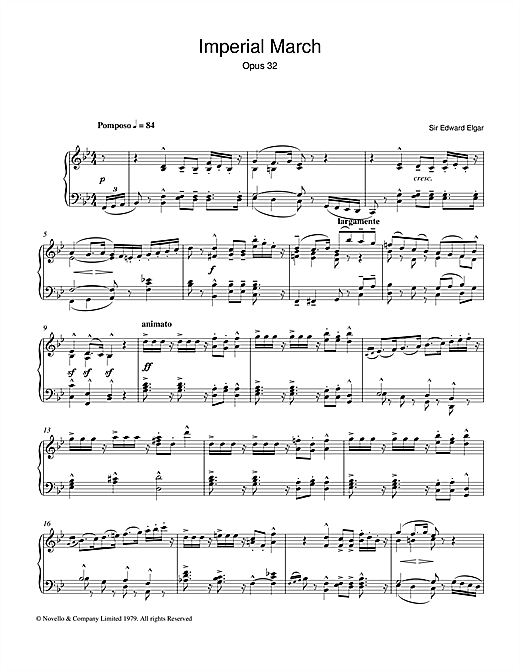 Imperial March Op. 32 (Piano Solo)