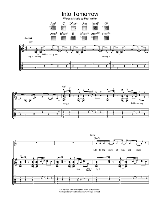 Into Tomorrow Sheet Music