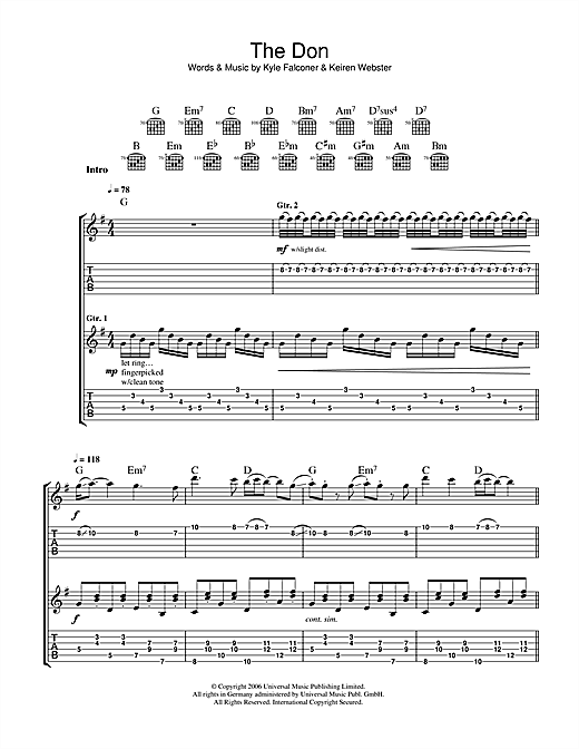The Don Sheet Music