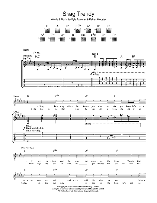 Skag Trendy Sheet Music