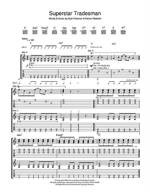 Superstar Tradesman Sheet Music