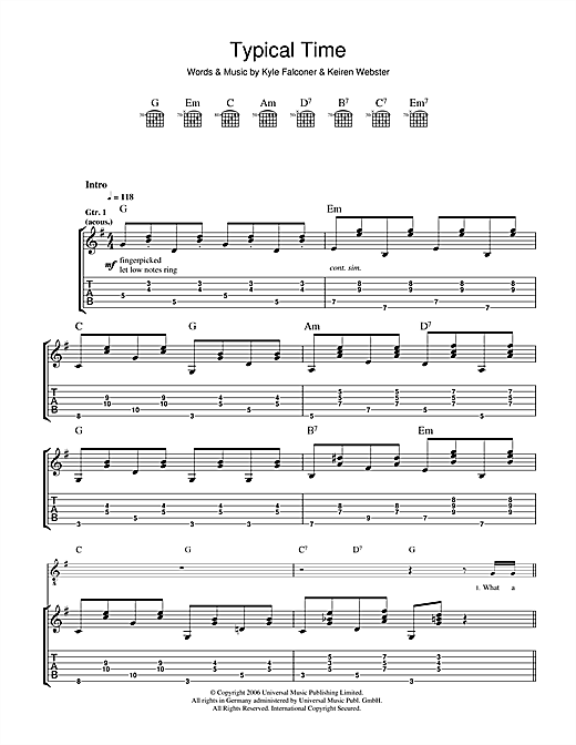Typical Time Sheet Music