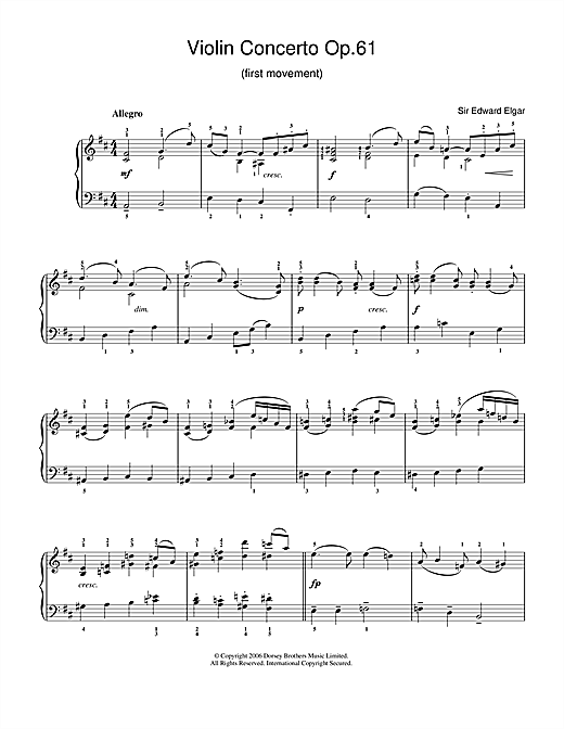 Violin Concerto Op.61 (1st Movement) Sheet Music