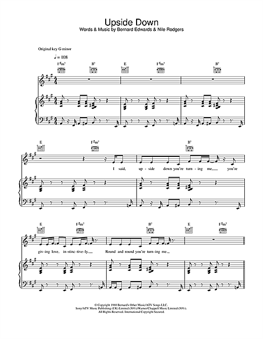 Upside Down Sheet Music