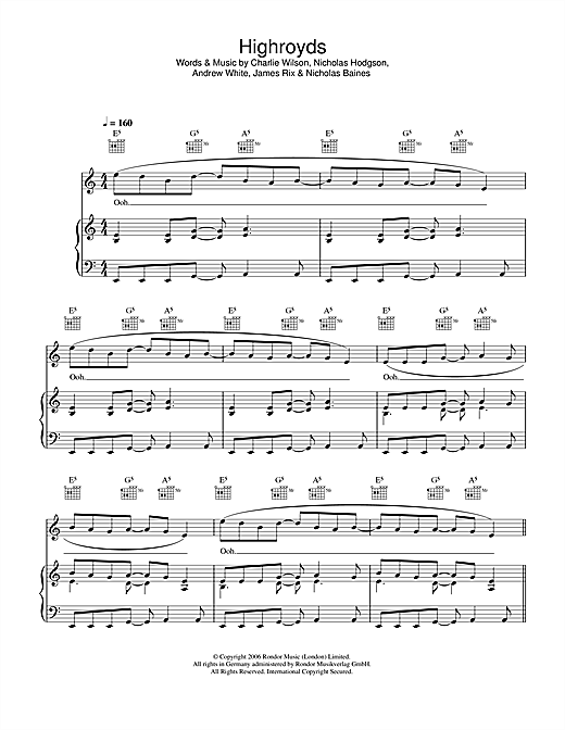 Highroyds Sheet Music