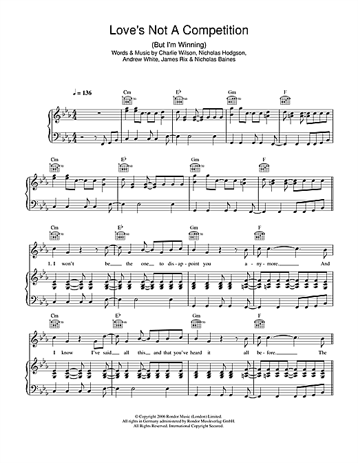 Love's Not A Competition (But I'm Winning) Sheet Music