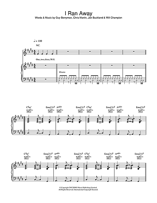 I Ran Away Sheet Music