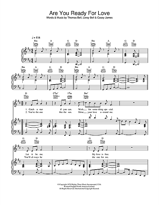Are You Ready For Love Sheet Music