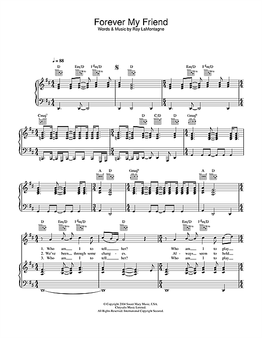 A friend keno piano sheet