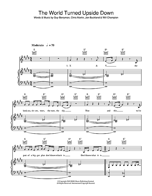 The World Turned Upside Down Sheet Music