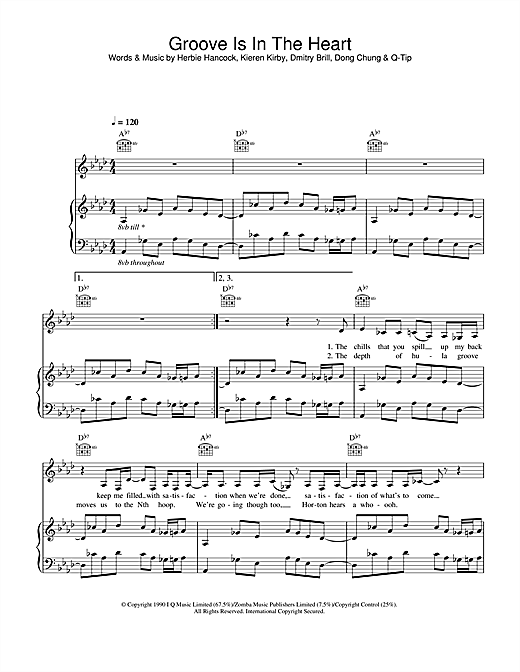 Groove Is In The Heart Sheet Music