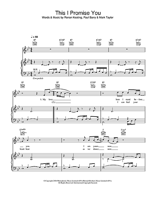 This I Promise You Sheet Music