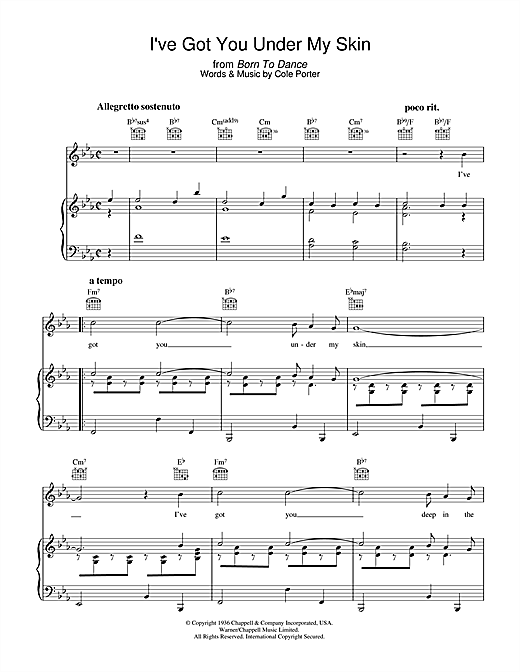 I've Got You Under My Skin Sheet Music