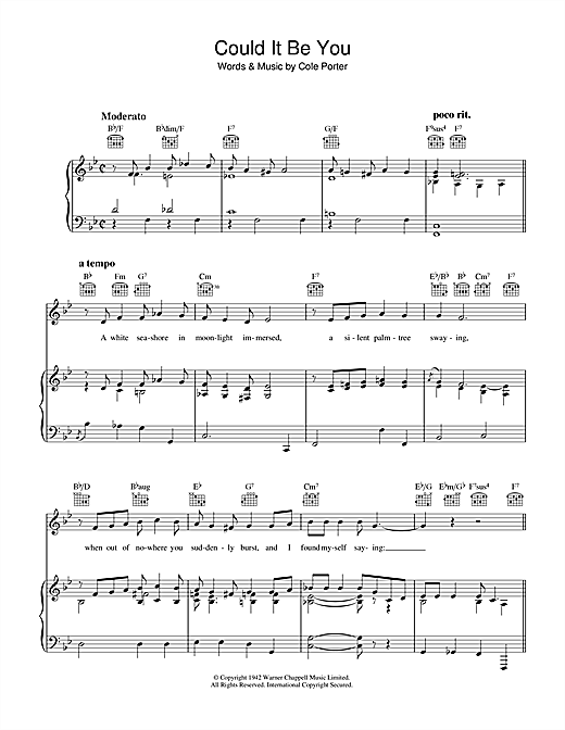 Could It Be You Sheet Music