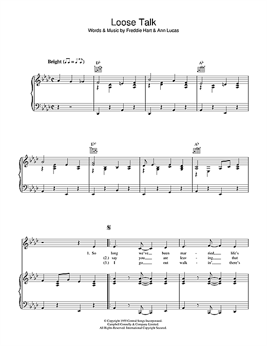 Loose Talk Sheet Music
