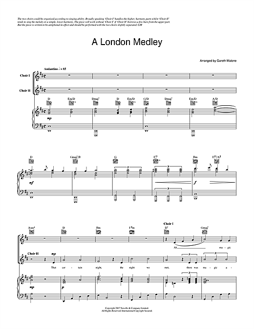 A London Medley (for the Sing London! Festival) Sheet Music