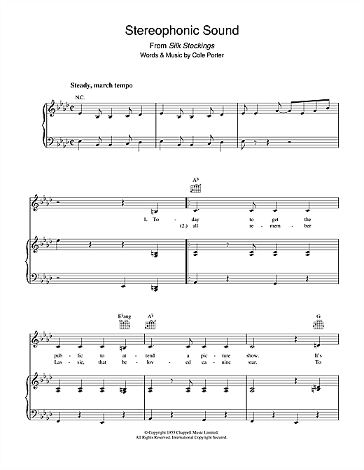 Stereophonic Sound Sheet Music