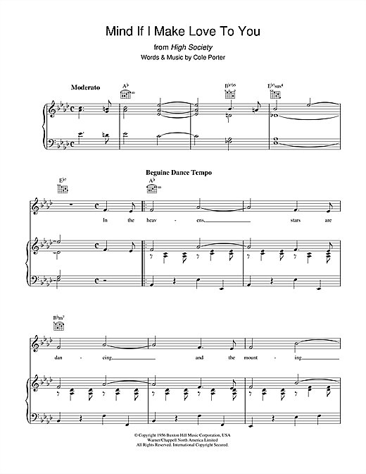 Mind If I Make Love To You? Sheet Music